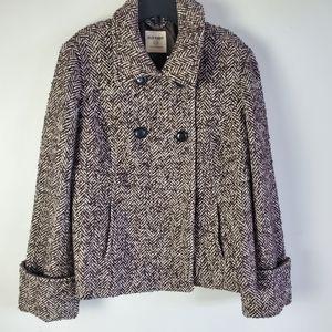 Old Navy brown herringbone wool blend jacket